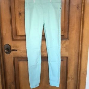 Justice mid rise teal jeggings
